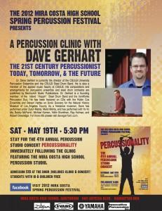Mira Costa Percussion Festival Dave Gerhart